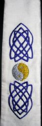 Celtic Silk Embroidered Scarf